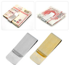 Men Stainless Steel Money Clip Cash Note Credit Card Holder Wallet Purse SL