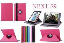 360 Rotating Smart PU Leather Cover Stand Folding Folio Case For Google Nexus 9