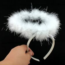 Hot Sell Fluffy Angel Halo Feather Headband Ring Christams Party Charm Props S92
