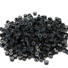 500pc Silicone Micro Link Beads Rings for Feather Hair Extensions Hair Care NH1Z