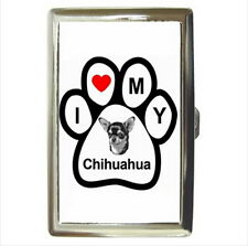 NEW Cigarette Business Card Holder I love my chihuahua
