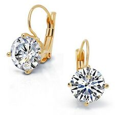 Austrian Crystal 18K Gold & Silver Plated Round Hoop Earrings Fashion Jewelry