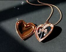 Picture in Heart Love Gold Silver Plated Photo Necklace Pendant Fashion Jewelry