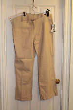 Rebel Maternity Stretch Slacks Pants Khaki