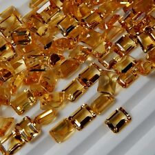 Natural Citrine Cut Octagon Calibrated Size 4x6mm - 10x14mm Loose Gemstone