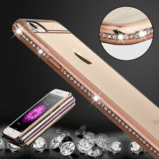 New ! Bling Rhinestone ShockProof Silicone Clear Case Cover For iPhone 6 6S Plus