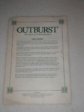 Outburst Replacement Board Game Instructions Only Parts