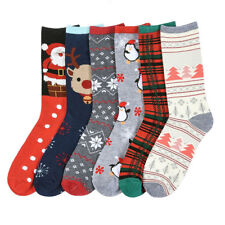 6-12 pairs Cute Winter Fashion Christmas Santa Claus Cotton Stockings Socks Lot