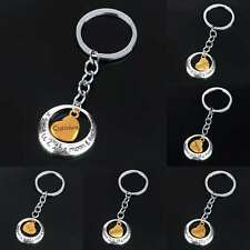Family Charm Keyring Keychain Gift Mom Daughter Sister Dad Heart Key Ring Chain