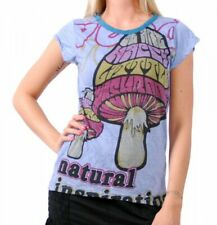 70er Retro Top Sure Magic Mushroom Psy Goa T-Shirt Girl