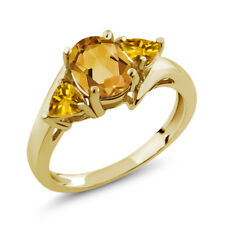 1.50 Ct Oval Yellow Citrine 18K Yellow Gold Ring