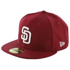 New Era 59Fifty San Diego Padres Fitted Hat (Cardinal/White) Men's MLB Cap