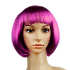 Women's Straight Full Wig Short Synthetic Hair BOBO Cosplay Party Decor Fashion