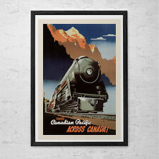TRAIN Travel Poster - CANADA Travel Poster - Professional Reproduction Canadian