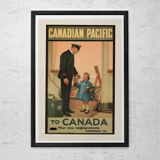FRENCH CANADIAN PACIFIC Cruise Travel Poster - Travel Print - Canada Travel Post