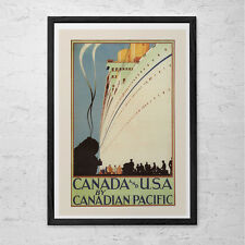 CANADIAN PACIFIC Cruise Travel Poster - USA Travel Print - Canada Travel Poster
