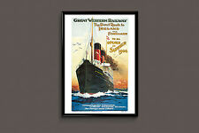 Ireland Travel Poster Travel Print Nautical Poster Art Deco Poster Art Deco prin