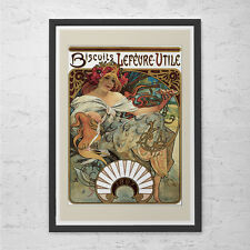 ANTIQUE MUCHA POSTER Print - Belle Epoque Poster Art Nouveau Poster French Fine