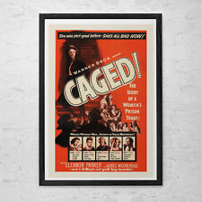 CAGED Movie Poster -  Classic Movie Poster -  Retro Movie Poster - Kitsch Film M