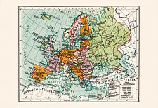 VINTAGE MAP of EUROPE - Vintage Europe Map - High Quality Map, Europe Map Print,