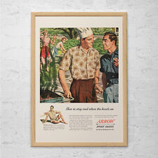MENS FASHION Ad - Retro Mid-Century ARROW Ad - Vintage Fashion Poster 1950's Ret