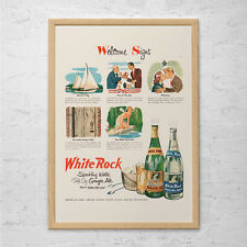 WHITE ROCK SODA Ad - Retro Pop Ad - Mid-Century Poster Vintage Kitsch Poster Art