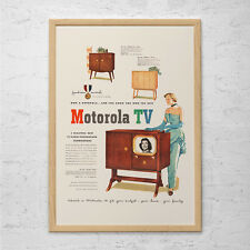 RETRO MOTOROLA TV Ad - Retro Car Ad - Vintage Mad Men Style Poster Retro Televis