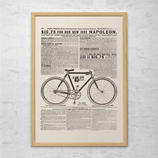 ANTIQUE BICYCLE AD - Old Bike Poster, 1902 Napoleon Bike Ad, Antique Bike Poster