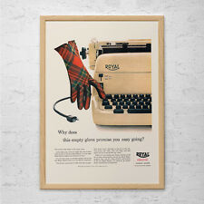 VINTAGE ROYAL TYPEWRITER Ad - Retro Office Poster - Office Wall Art, Workplace P