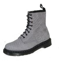 Dr. Martens 8-hole Boots Lace Up Boots Python Grey Docs