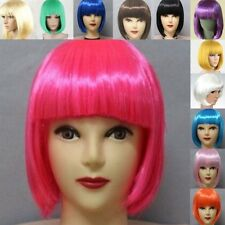 Multi-Color Cosplay Party Women Girls Synthetic Short Straight BOB Full Wigs