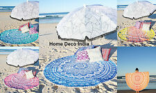 Hippie Indian Ombre Mandala Round Roundie Beach Throw Tapestry Towel Yoga Mat