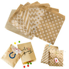 50 Kraft Paper Lolly Candy Buffet Bags Wedding Party Food Packaging Treat Bag