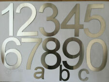 House Number / Numeral Brushed Stainless Steel XL Numbers and abc - selection