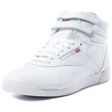 Reebok Freestyle Hi Womens Leather White Trainers