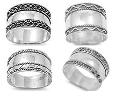 Sterling Silver 925 LADIES MENS HANDMADE BALI RINGS SILVER DESIGN SIZES 5-13