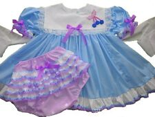 Adult Baby Sissy Blue Cherry Pie Dress Set ღஐƸ̵̡Ӝ̵̨̄Ʒஐღ Binkies_n_Bows