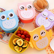 1050ML Owl Lunch Box Bento food-safe Plastic Food Container Portable Box QT