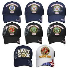 USA US Military Proud Army Marine Navy Air Force Mom Dad Wife Son Baseball Cap