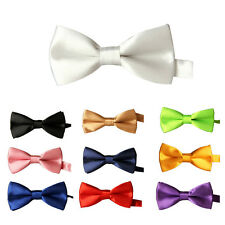 Children Kids Toddler Infant Solid Bowtie Pre Tied Wedding Bow Necktie Tie cn