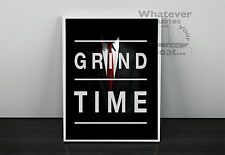 Success Motivation Inspiring Quote Positive Life Poster Picture Print GRIND TIME