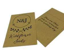 Wildflower or Sunflower Seed Wedding Favours PERSONALISE with name & Date Favors