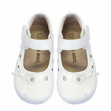 Girls Kids Toddlers Formal Leather Shoes Patent Princess Birthday sz 36 CREME
