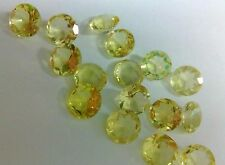 Natural Lemon Quartz Faceted Cut Round Calibrated Size 4mm - 16mm Loose Gemstone