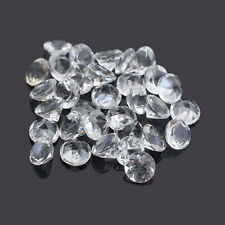 Natural White Crystal Quartz Cut Round 1mm - 16mm Calibrated Size Loose Gemstone