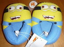 Boys Girls Despicable Me MINION Dave Plush Slippers Size M L XL Plush yellow NWT