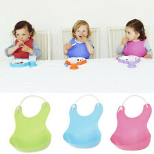 Lovely Baby Infants Kids Soft Plastic Bibs Baby Lunch Bibs Cute Waterproof New
