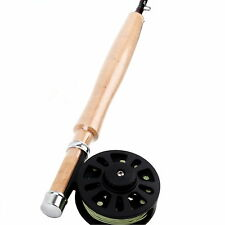 Fly Fishing Rod And Reel Combo 2WT 6FT Medium-fast Fly Rod & Plastic Reel & Line