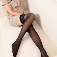 Women Ladies Thigh High Hosiery Stockings Stretch Striped High Socks Long Socks