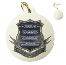 Policeman's Prayer - Christmas Xmas Tree Porcelain Ornaments